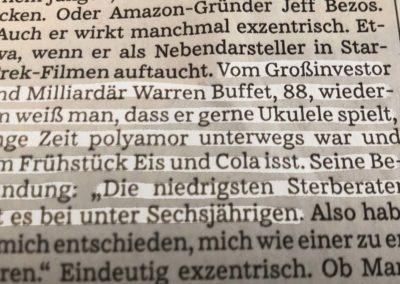 """Schnipseltexte: """"Warren Buffet"""""""