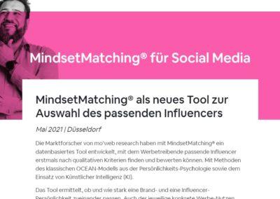 "Pressemitteilung ""MindsetMatching"""